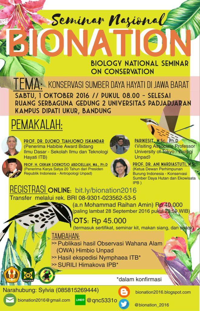 Seminar Nasional Bionation 2016